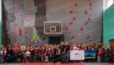 Climbing wall for professional lyceum, Kurakhovo 2018